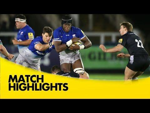 Newcastle Falcons Vs Saracens - Aviva Premiership 2015/16 | Rugby Video Highlights