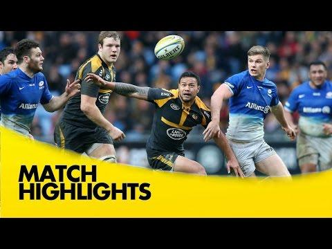Wasps Vs Saracens  - Aviva Premiership 2015/16 | Premiership Rugby Video Highlights