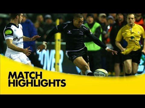 Newcastle Falcons V Bath   | Rugby Video Highlights Aviva Premiership 2015/16