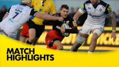 Saracens vs Bath - Aviva Premiership 2015/16 | Rugby Video Highlights