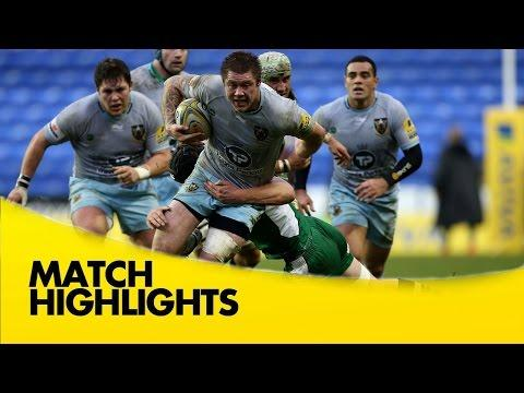 London Irish Vs Northampton Saints - Aviva Premiership 2015/16 | Premiership Rugby Video Highlights