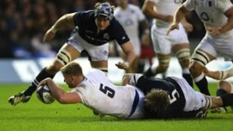 George Kruis Scores England's first try | RBS 6 Nations Rugby Video Highlights