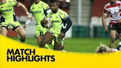 Gloucester vs Sale Sharks  - Aviva Premiership 2015/16 | Rugby Video Highlights