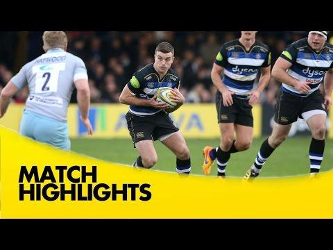 Bath Vs Northampton Saints - Aviva Premiership 2015/16 | Rugby Video Highlights
