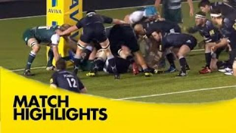 Newcastle Falcons vs Leicester Tigers  - Aviva Premiership 2015/16 | Rugby Video Highlights