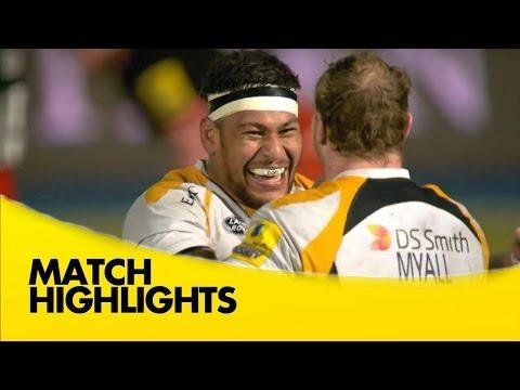 Saracens Vs Wasps   - Aviva Premiership 2015/16 Rugby Video Highlights