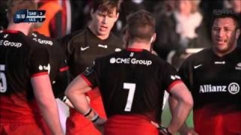Chris Ashton penalised for neck tackle on Luke Marshall | Rugby Video Highlights