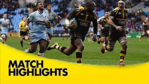 Wasps Vs Worcester Warriors |  Aviva Premiership Rugby Video Highlights 2015/16