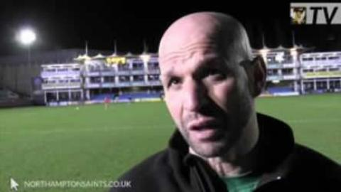 Northampton Boss Jim Mallinder reacts to Bath victory| Rugby Video Highlights