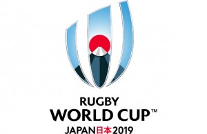 The logo for the 2019 Rugby World Cup in Japan
