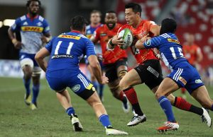 Akihito Yamada scored his eighth try for the Sunwolves