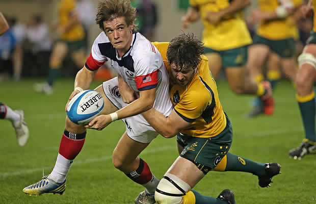 USA flyhalf Alan Macginty has signed for Sale Sharks