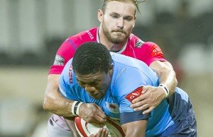 Bandise Maku on the charge for the Blue Bulls