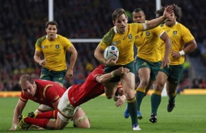 Bernard Foley on the charge for Australia
