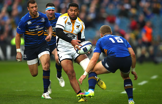 Charles Piutau on the attack for Wasps
