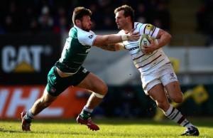 Cieran Hearn is tackled by Adam Thompstone