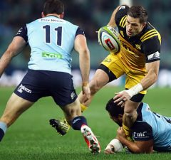 Cory Jane gets caught by the Waratahs