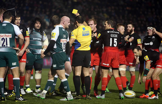 Leicester Tigers Dan Cole gets yellow carded