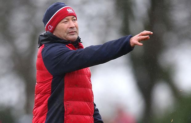 Eddie Jones at training with England