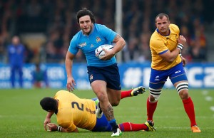 Enricho Bacchin slips through for Italy against Romania