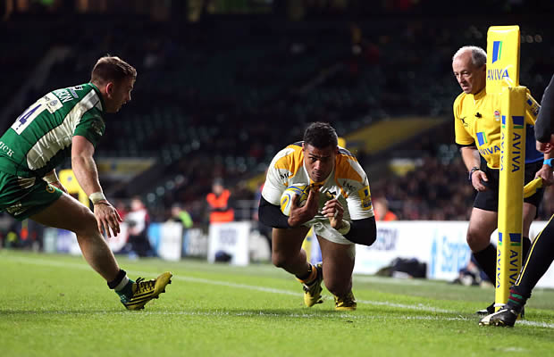 Frank Halai scored two tries for Wasps