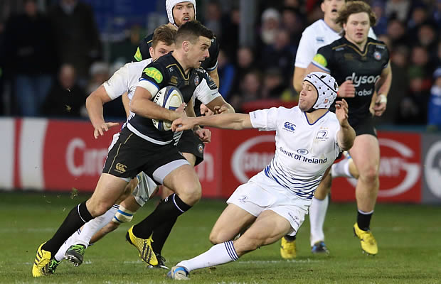 George Ford shrugs off a tackle from Isaac Boss