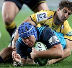 James Parsons scored a try for the Blues against the Brumbies
