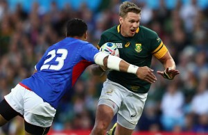 Jean de Villiers appears to have broken his jaw again