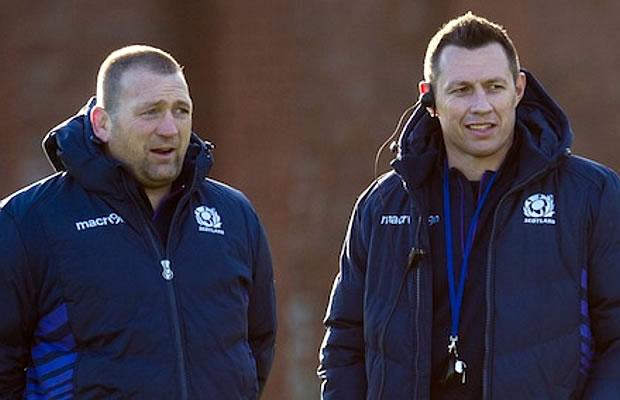 Scotland assistant coaches Jonathan Humphreys and Matt Taylor