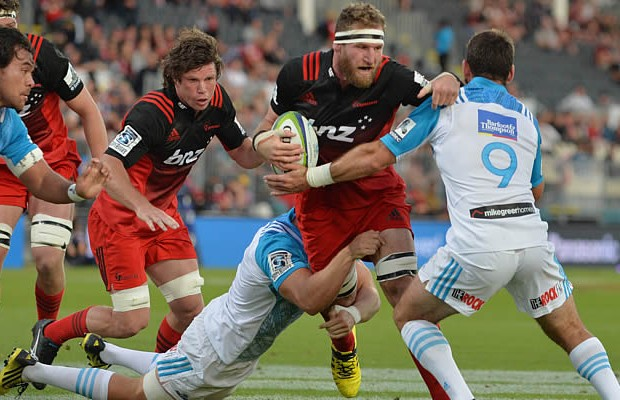 Kieran Read scored a try for the Crusader