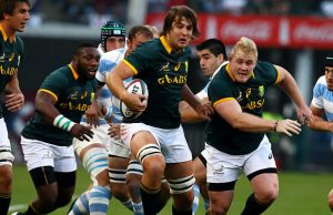 Lood de Jager in action for the Springboks