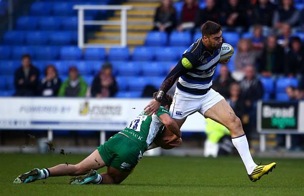 Matt Banahan on the burst for Bath against London Irish