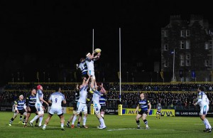 A general shot of the line out