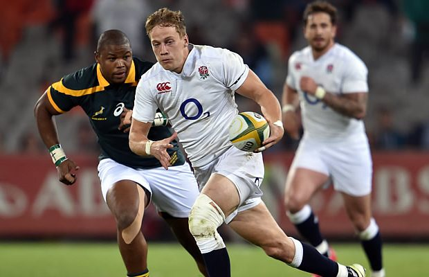 Mike Haley on the run for England Saxons
