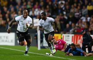 Nemani Nadolo on the charge for Fiji