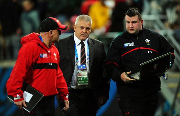 Rhys Long (R) has left Warren Gatland's coaching staff