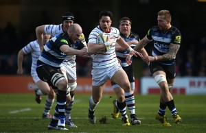 Sean Maitland on the burst for London Irish
