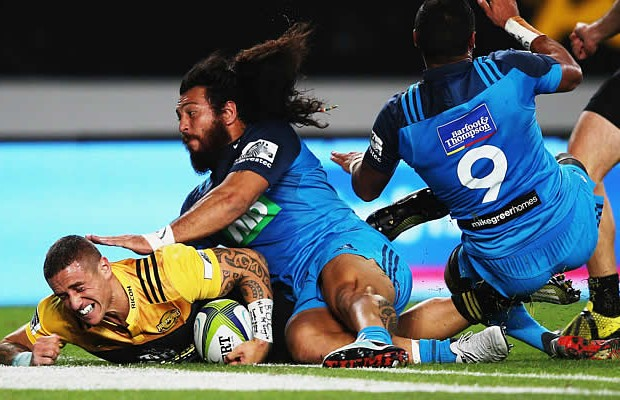 TJ Perenara scored two tries for the Hurricanes