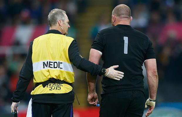Tony Woodcock walks off injured against Tonga
