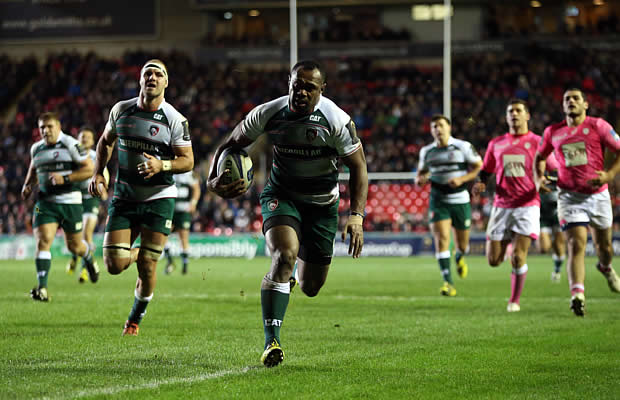 Vereniki Goneva on the charge for Leicester Tigers