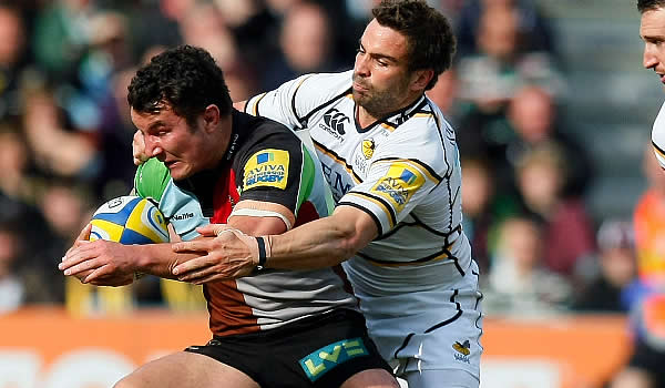 George Lowe has re-signed with Harlequins