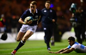 Stuart Hogg has been named at fullback for Scotland